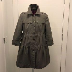 Burberry London Peplum Rain Coat